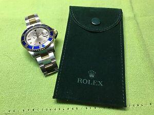 Genuine New Rolex service  Velvet travel Pocket Pouch