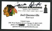 Joel Quenneville signed autograph Chicago Blackhawks Coach Business Card BC244