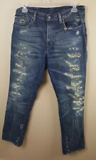 RALPH LAUREN Denim & Supply Slouch Men's Jeans 36X33 Blue Button Fly Destroyed