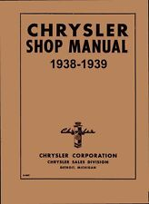 1938 1939 Chrysler C-18 C-19 C-20 Shop Service Repair Manual Book Guide OEM