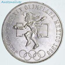 1968 Mexican Silver 25 Pesos Olympics .5209 Silver Coin