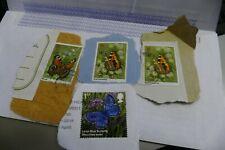4 butterflies commemorative UK British postage stamps philately philatelic