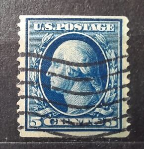 USA stamp 1909 Scott#355 (Mi.166G) G.Washington 5c - USED --$300