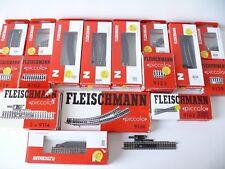 Fleischmann N - Konvolut Gleise Weichen Entkupplungsgleise 115 Teile - Neu & OVP