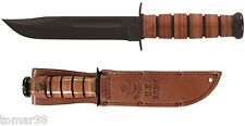 KA-BAR #1220 U.S. ARMY STRAIGHT EDGE FIGHTING UTILITY KNIFE w/ EMBOSSED SHEATH