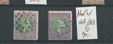INDIE 16A & 16 B  Willem III 1870  VFU/gebr CV 70 €