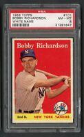 1958 Topps Bobby Richardson #101 PSA 8 Near Mint