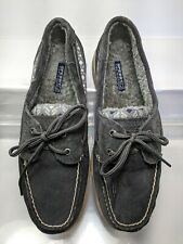 Sperry Top Sider 9774126 Gray Suede Moccasin  Boat Shoe Women US 9