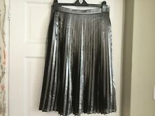 Whistles metalic, lined, pleated skirt, size 12, used but vgc.