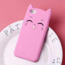 Cute 3D Cat Ear Cartoon Soft Silicone Case Back Cover For iPhone 7 8 6s 6 Plus X