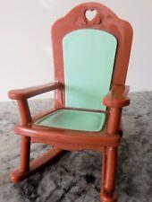 1993 Fisher Price Loving Family Dollhouse Rocker with Aqua  Seat (EUC)