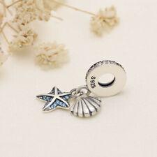 S925 ALE UK Pandora Starfish & Sea Shell Dangle Charm  genuine