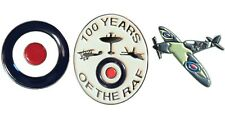 RAF 100 Years Royal Air Force Aircraft Badge Set Target Roundel & Spitfire NEW
