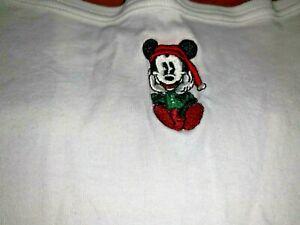 Vintage Disney MICKEY MOUSE SANTA Christmas Holiday Tank Cami Camisole MEDIUM