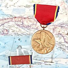 "WW2 US NAVAL RESERVE FAITHFUL SERVICE MEDAL SLOT BROOCH 1/2"" RIBBON US MINT WWII"