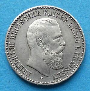 ! PREUSSEN Medaille Silber 1888 Friedrich III. a. s. Tod 99 Tage 2 Mark Grösse
