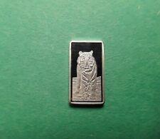 Silver Standing Tiger 2.5 Gram Bar .999 Fine