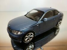 MINICHAMPS BMW 1 SERIES COUPE - BLUE METALLIC 1:43 - EXCELLENT - 24