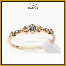 Montana Saphir Gold Ring 14K Rose Gold Stapelbar Lichtgrau Shapphire 2.9MM