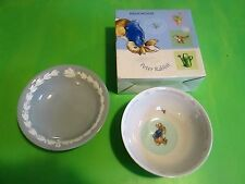 Lot of 2 Wedgwood Bowls - Peter Rabbit Cereal Bowl & Decorative Bowl Euc