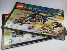 LEGO Manual De Instrucciones Nº 8971 City Agents 2.0 Helicóptero Cuaderno 1+2