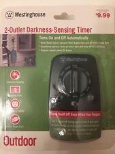 Target Westinghouse 2 Outlet Darkness Sensing Timer Outdoor NEW