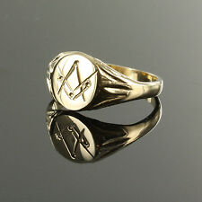 More details for 9ct gold square and compass masonic seal ring