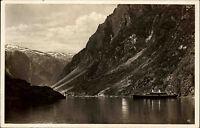 Norge Norwegen AK 1936 DSP MS Monte Olivia KdF-Dampfer Bordpost Schiffspost