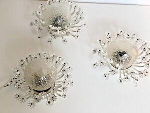 Set of Three Glass Blossom Wall Lights Emil Stejnar Mid Century Modern 1950s