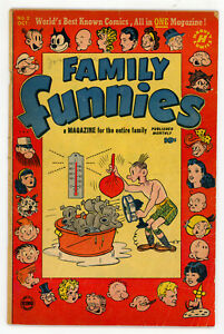 JERRY WEIST ESTATE: FAMILY FUNNIES #2 (VG) & 4 (Harvey 1950) NO RES