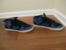 Classic Used Worn Size 11 Emerica Francis Skateboard Shoes Black Blue White