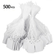 500 x Label Tie String Strung  Ticket Jewelry Merchandise Display Price Tags Set