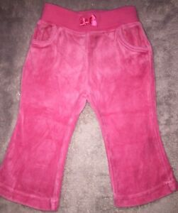 CARTER'S Pink Velour Trackpants GUC. 9 Months Size 0. 10 Items = $5 Post