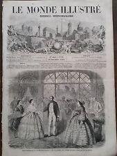 """LE MONDE DIBUJADO 1858 NO 85 REPRESENTACIÓN DE LA """"LUJO """"EN LA THEATRE FRANCÉS"""