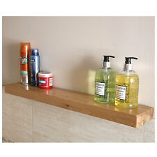 2 x Solid Oak Floating Shelves | Bathroom, Bedroom & Living Room Furniture 123cm
