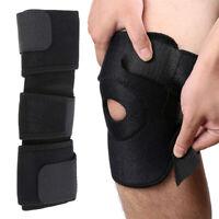 Adjustable Knee Patella Support Brace Sleeve Wrap Cap Stabilizer Sports Black