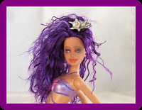 Sirena OOAK Barbie Mermaid Fantasy Donutz Repaint Doll Custom Faceup Purple Hair