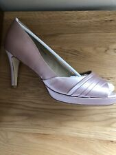 Hobbs Oyster Satin Peep Toe Court Shoe Size 41/8