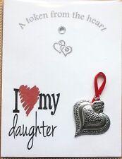 Heart Token I Love My Daughter NEW Larger Size For 2018 Keepsake Gift