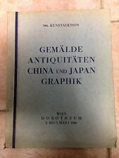 Kunstauktion Dorotheum GEMALDE ANTIQUITATEN CHINA JAPAN GRAPHIK 1928
