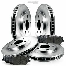 Full Kit Blank Brake Disc and Pads For 1987-1990 Lincoln Continental,Mark VII