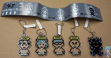 MOTHER 2 Kizetsu? Plate keychain set of 5 Ness Paula Jeff Poo Earthbound keyring
