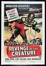 REVENGE OF THE CREATURE ✯ CineMasterpieces FROM THE BLACK LAGOON MOVIE POSTER