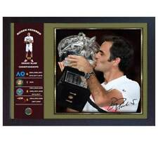 Roger Federer signed photo print picture 20 GRAND SLAM CHAMPIONSHIPS Framed #008