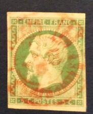 France N° 12 5 c Vert Oblitéré CAD rouge TB Cote 170€