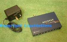 Netgear EN108 9 puertos 10 Base-T Ethernet concentrador de red con adaptador BNC Reino unido AC PSU
