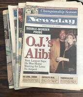 New York Newsday 1990's Lot of 8 Vintage Newspapers 1994 1995 1997 1999