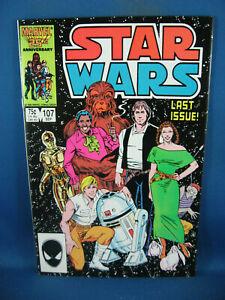 STAR WARS 107 VF NM FINAL ISSUE 1986