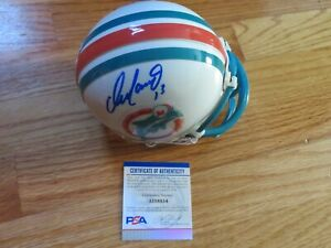 HOFer Quarterback DAN MARINO NO. 13 signed MIAMI DOLPHINS Helmet PSA AI18854