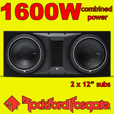 "Rockford Fosgate Double 12"" PUNCH 1600w Car Audio Subwoofer Sub Woofer Bass Box"